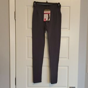 NWT New Mix Gray Fleece Lined Leggings One Size